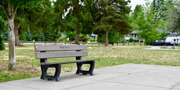 Wishbone Buddy Bench at James Park Elementary in Port Coquitlam BC (1)