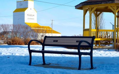 Wishbone Mountain Classic Memorial Bench in Lougheed Alberta
