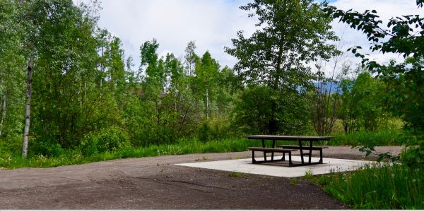 Wishbone Rutherford Double Wheelchair Accessible Picnic Table in Smithers BC (1)