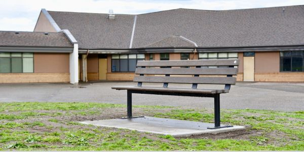Wishbone Standard Bench at School District 57 in Prince George BC (1)