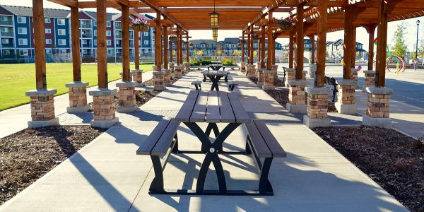 Wishbone-BayView-Wheel-Chair-Accessible-Picnic-Tables-at-Chappelle-Gardens-Subdivision-in-Edmonton-Alberta