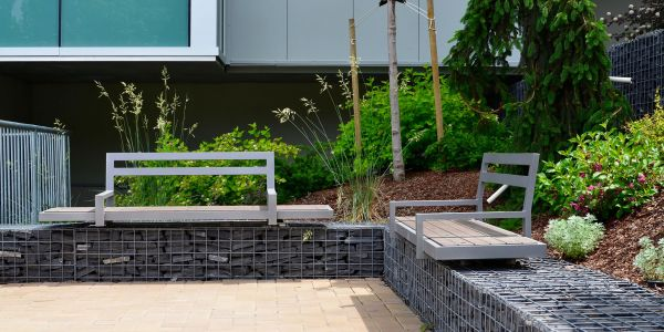Wishbone-Custom-Gabion-Bench-at-Royal-Island-Hospital-in-Kamloops-BC