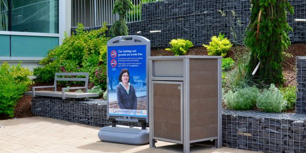 Wishbone-Urban-Form-Waste-Receptacle-at-Royal-Inland-Hospital-in-Kamloops-BC